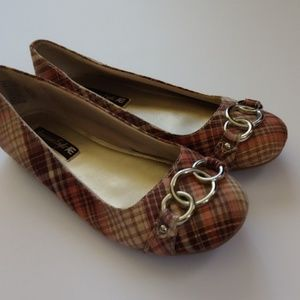American Eagle Plaid Flats Worn Once